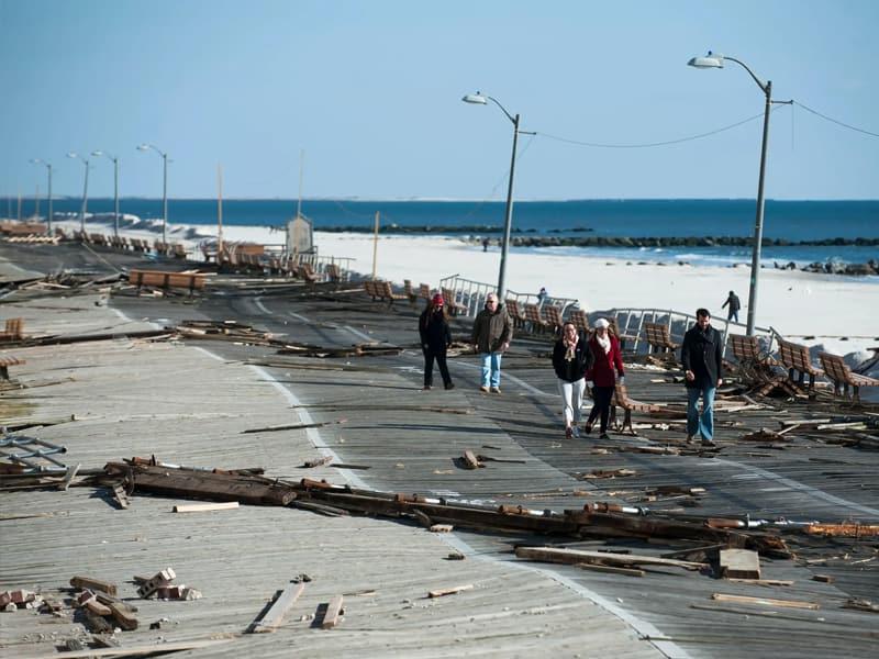 Boardwalk after Hurricane Sandy